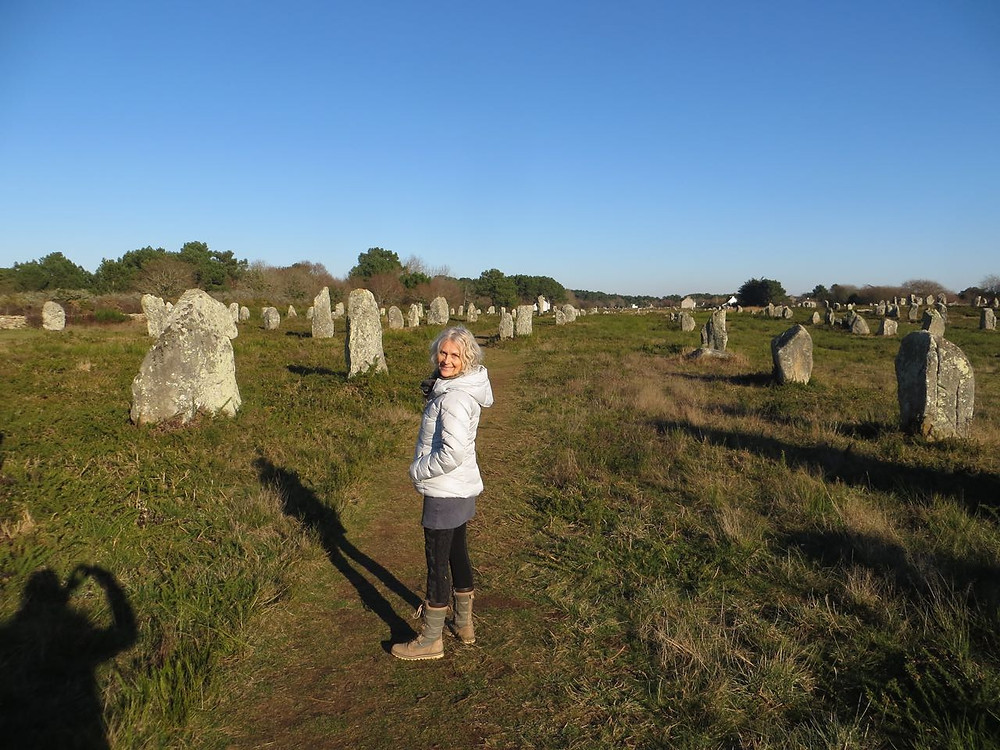 In the megalithic alligmnets of Carnac, France