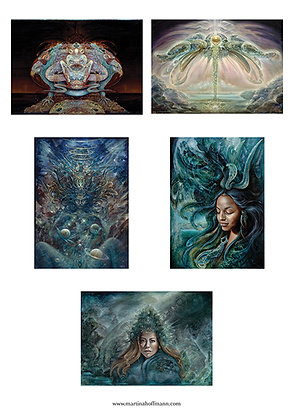 MH - NEW- Large Art Cards - Set #2 - Selection of 5 images