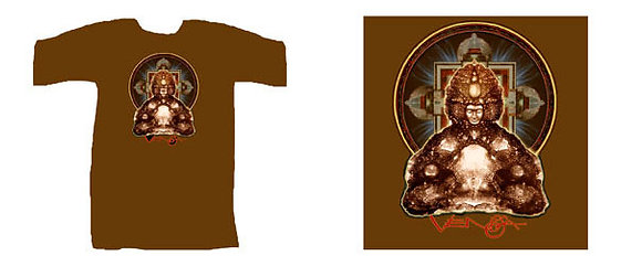 RV Men's T-Shirt, brown - 'Buddha Manadala'
