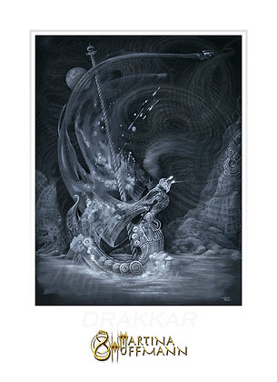 DRAKKAR - Limit. Ed. Fine Art Print, Paper (Digigraphie)  - Medium