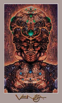HALLUCINOGENIC SELF-PORTRAIT - RV Poster