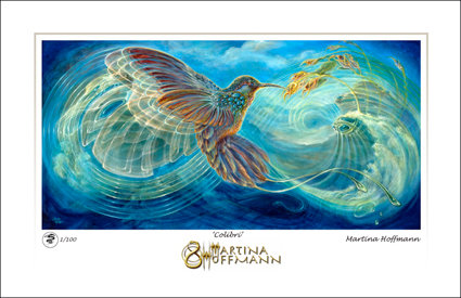MH Digigraphie, Limited Edition print on Paper, small size - COLIBRI