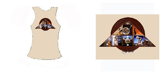 MH Women's Tanktop, beige - 'Goddess Triangle'