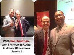 With Ron Kaufman