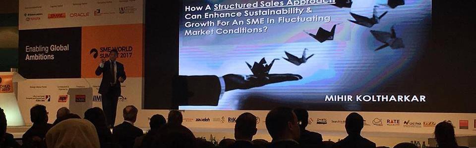 Speaking at World SME Summit