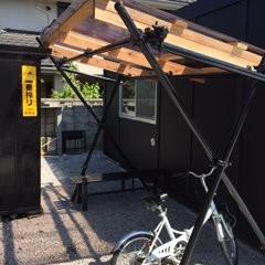 自転車置き場完成!!