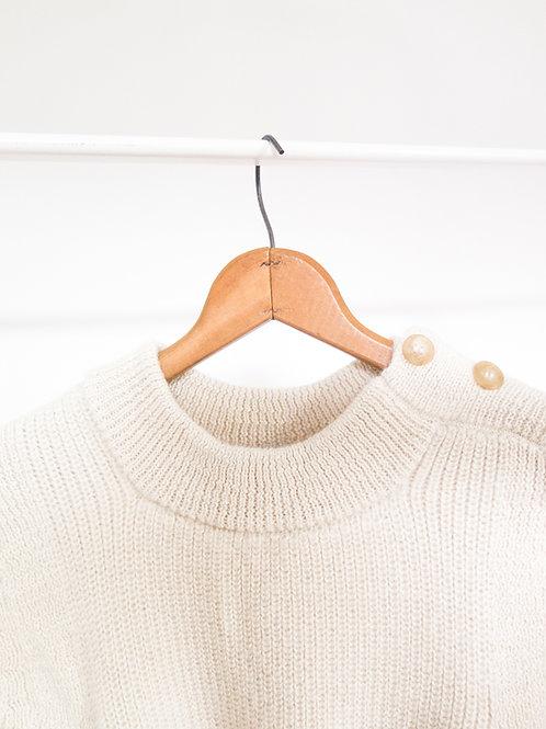 Alpaga Buttoned Shoulder Sweater