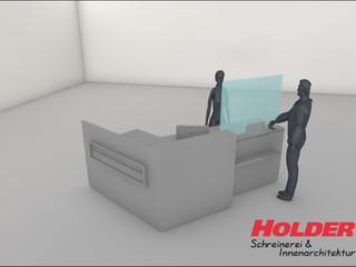 Hygieneschutz für Apotheken, Praxen und Einzelhandelzum Aufstellen auf der Verkaufstheke