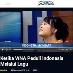 """Program Newsline"" at Metro TV"