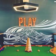 PLAY Sign, Flatstick Pub, Bellingham, WA