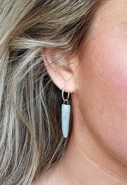 'Artist's Grey' ceramic drop earrings