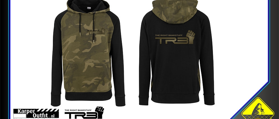 TRB Black/ Green Camou Hoodie
