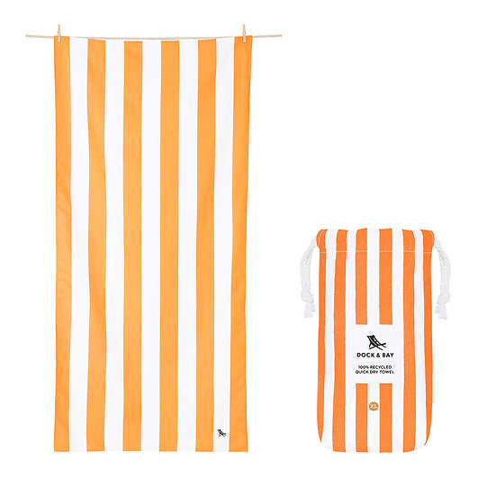 Large Orange Beach Towel Front View