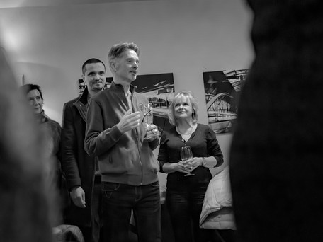 Impressions from the Vernissage of my photo exhibition in Prague