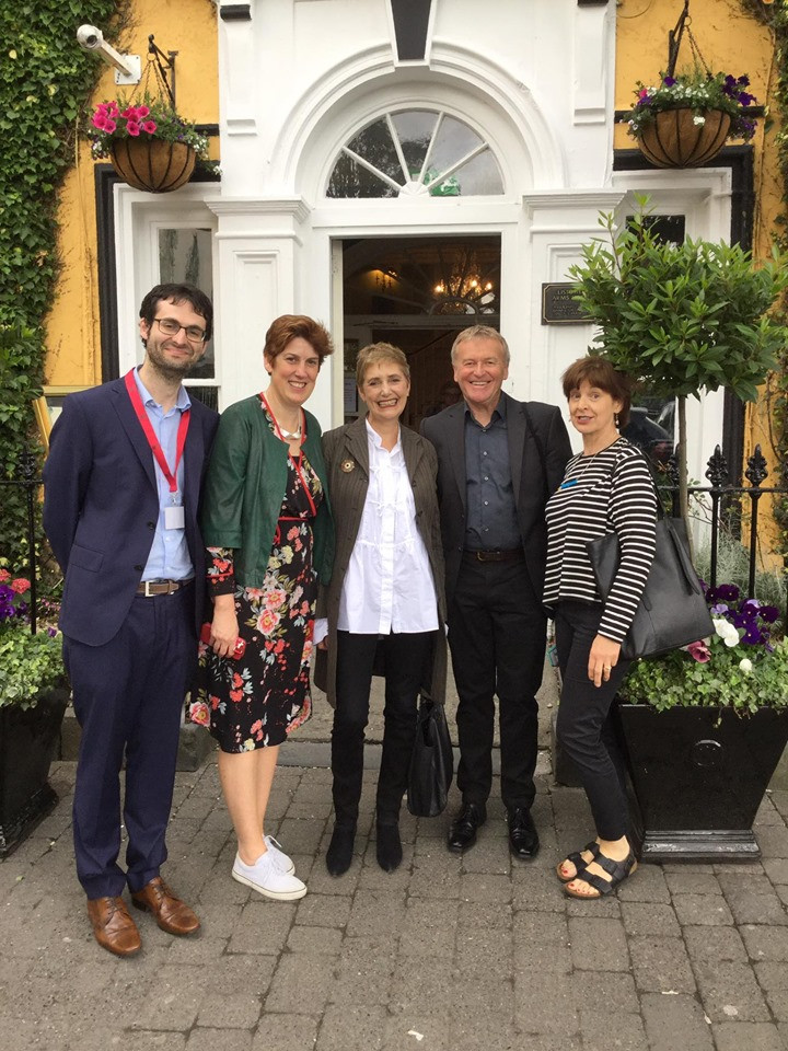 All ready for wonderful interview and event. (l-r) Jeremy Murphy, editor and literary agent, Maire Louge, Writers' Week festival manager, Alexandra Pringle, editor-in-chief of Blommsbury publishing, Niall MacMonagle, writer, editor, journlaists and interviewer extraordinaire, and Louise Dobbin, publicist and seller at Bloomsbury.,