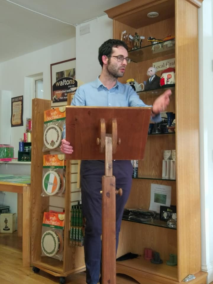 Me introducing Jeremy Murphy Editing & Literary Agency and the Kerry Christmas Book Fair 2019 at Kerry Writers' Musuem