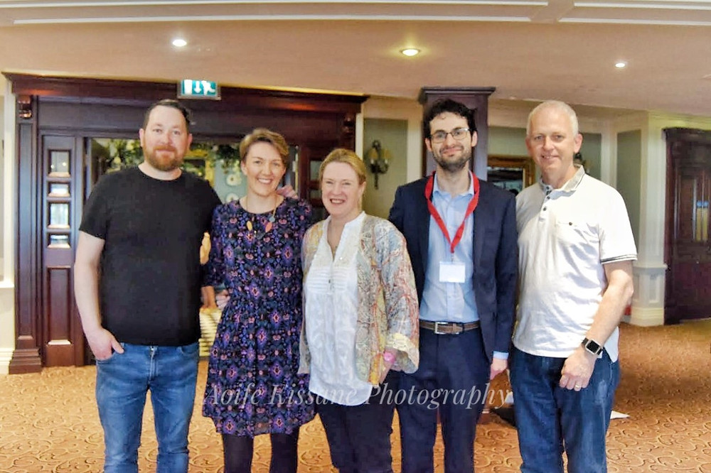 Panle for 'Proper Book-' event. Pictured (l-r) Chris Judge, Children's author and illustrator, Grainne Clear, editor at Little Island publishing house, Sarah Webb, children's author and creative writing teacher, Jeremy Murphy, editor and literary agent.