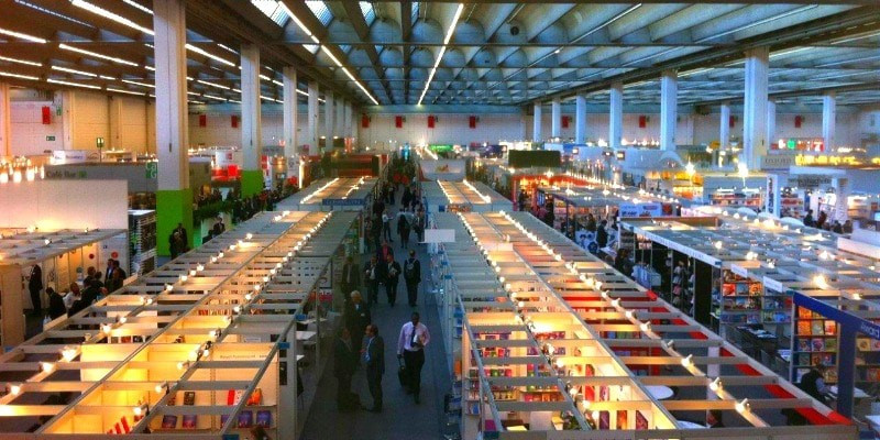 A beautiful, ambient photo of Frankfurt Book Fair.