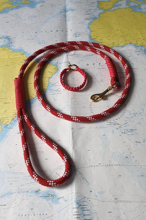 Smycz sznurowa dla psa - 150 cm + bransoletka GRATIS