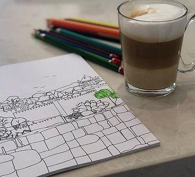 קפה צבעוני של בוקר ☕️ 🌈 Coloring mornin