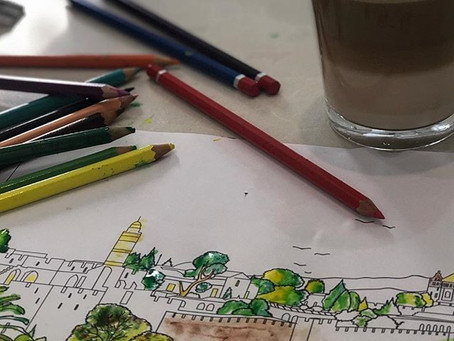 Coloring in your stress away!