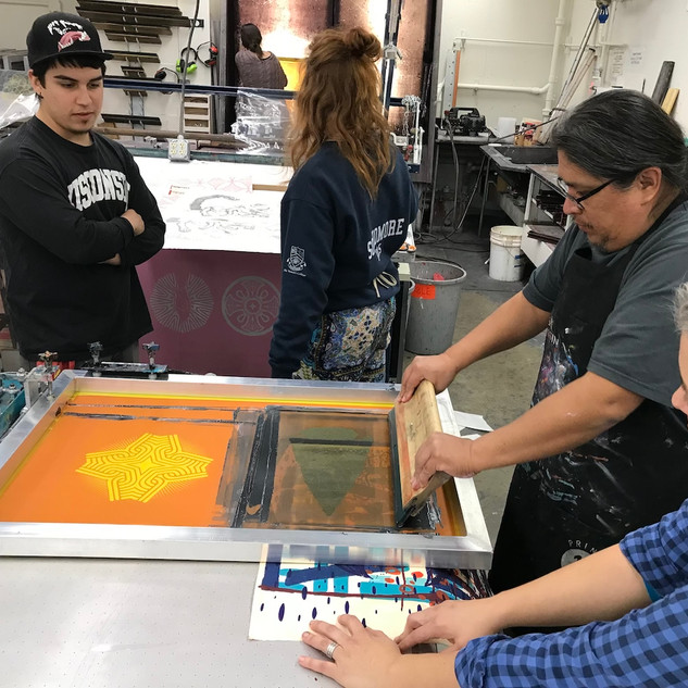 Visting Artist Marwin Begaye with Andy V