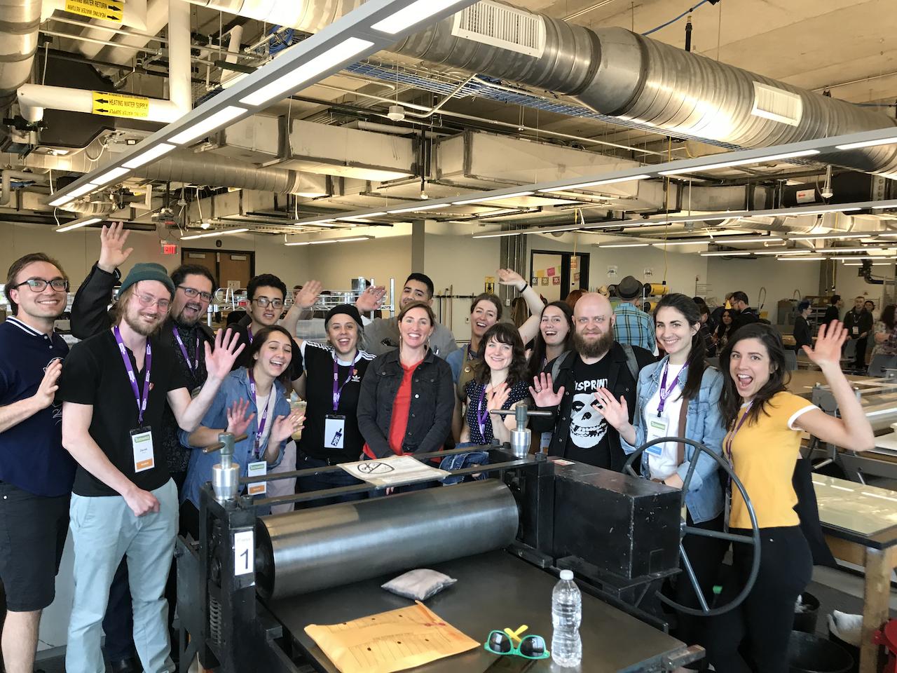 Print crew at SGCI