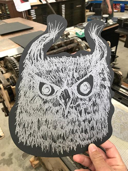 Hand Printed Letterpress Owls
