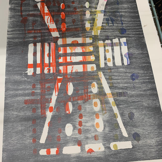 Relief Stencil and Additive