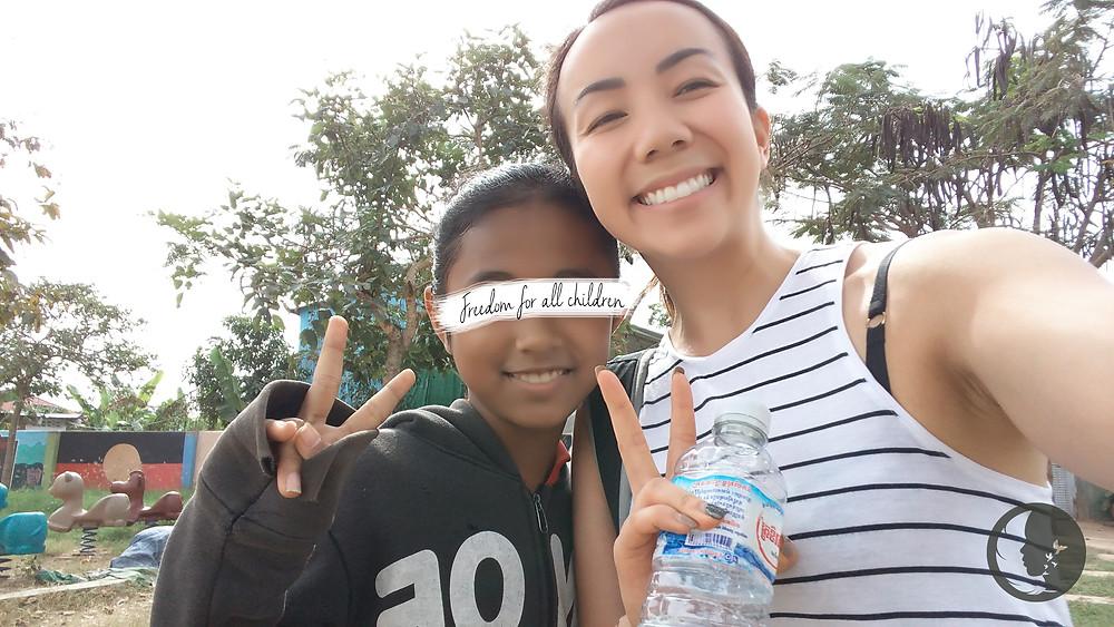 Angela & D. in Cambodia!