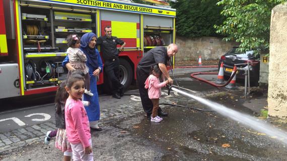 Fire Brigade Visits Little Stars
