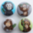 Monkey Drawer Pulls / Dresser Knobs / Closet Handles for Children's Rooms and Nursery Rooms