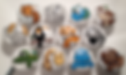 White Background / Animal Draw Pulls / Animal Dresser Knobs