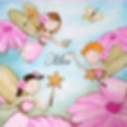 Personalized & Hand Painted Fairies Canvas Wall Art for Girls Rooms / Nursery Rooms