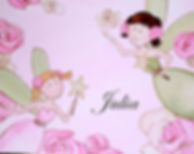 Personalized and Hand Painted Pink and Green Canvas Wall Art for Girls