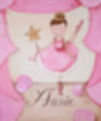 Personalized and Hand Painted Ballerina Canvas Wall Art for Girls
