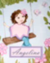 Personalized & Hand Painted Swing Girl Canvas Wall Art for Girls Rooms / Nursery Rooms