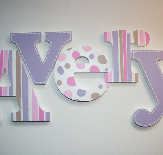 hand painted wall letters for nursery wall letters for. Black Bedroom Furniture Sets. Home Design Ideas