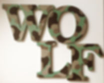 Customized Hand Painted Camouflage Name Letter Hangings for Boys, Children's or Nursery Rooms