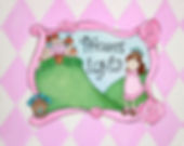 Personalized and Hand Painted Marquis Princess Canvas Wall Art for Girls
