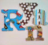 Customized Hand Painted Construction Name Letter Hangings for Boys, Children's or Nursery Rooms