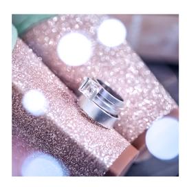 Sandblasted white gold wedding rings