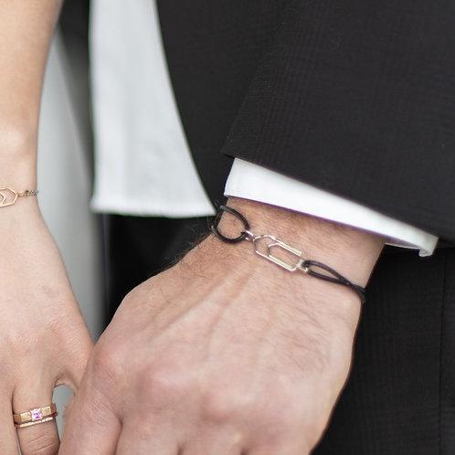 Bracelet homme paperclip