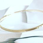 Bracelet jonc or jaune et diamants