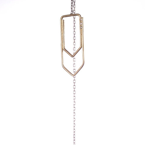 Boucle paperclip chaine GM