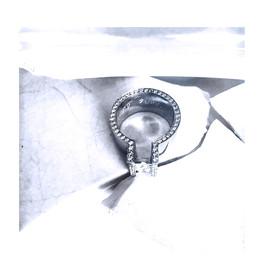 White gold and diamonds wedding ring