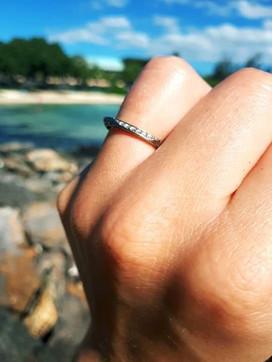 White gold and diamond wedding rings