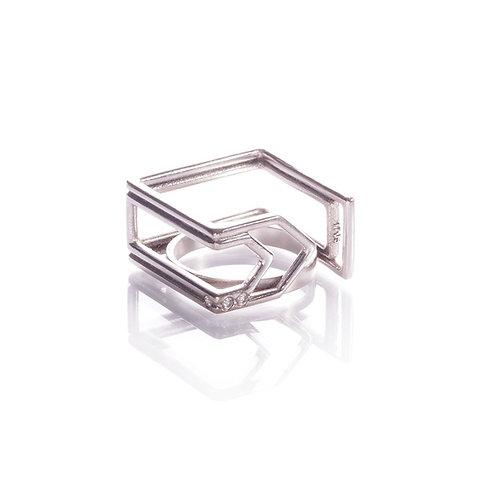 Bague paperclip square