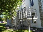 Маршевая пожарная лестница с перильным ограждением (СП 1.13130.2009).
