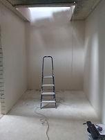 Сварная забежная лестница (тетива) с перильным ограждением.